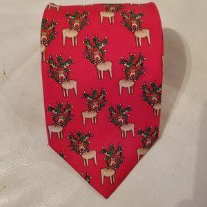 Alynn Merry X-Moose 100% silk tie
